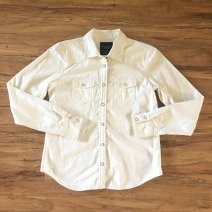 American Eagle Pearl Snap Button Corduroy Shirt S